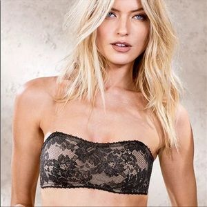 Victoria's Secret strapless Unlined lace bralette